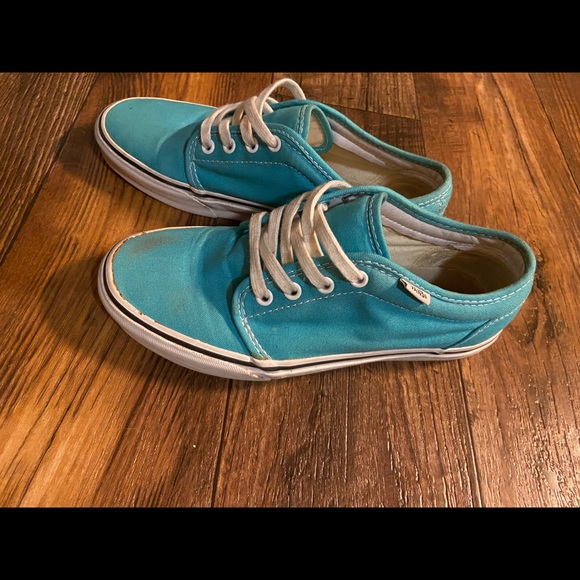 Vans Shoes | Turquoise Sneakers | Poshmark